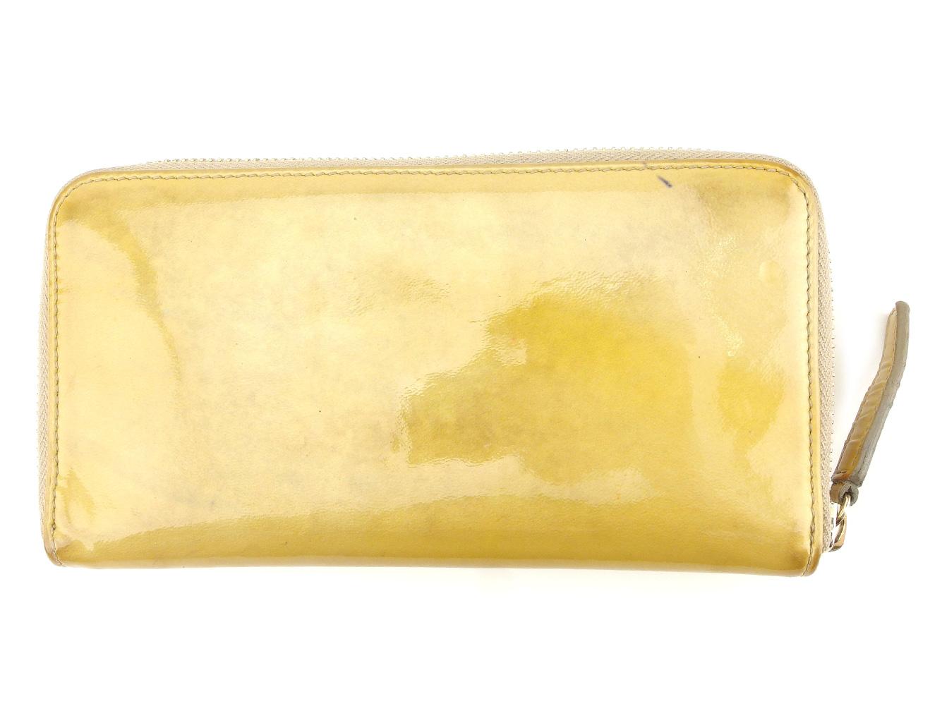 3dbf117460bd 【中古】 ブルガリ BVLGARI 長財布 ラウンドファスナー レディース メンズ 可 ソリティオ ベージュ エナメルレザー 人気 セール C3225- レディース財布