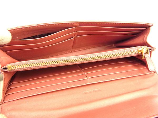 뮤뮤 miu miu장 지갑 패스너 장 지갑 레이디스 크로커다일조 핑크×골드형 밀기 레더 인기 세일 J16077