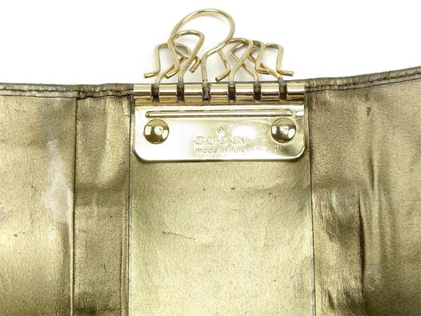 セール10 オフグッチ キーケース 6連キーケース シェリーライン ベージュ×カーキ×ゴールド キャンバス×レザーGUCCI レディース プレゼント 贈り物 1点物 人気 良品 夏 ブランド 迅速発送 オシャレ 大人 在庫処分 ファッション送料無料T14607 AUjVpqzLSMG