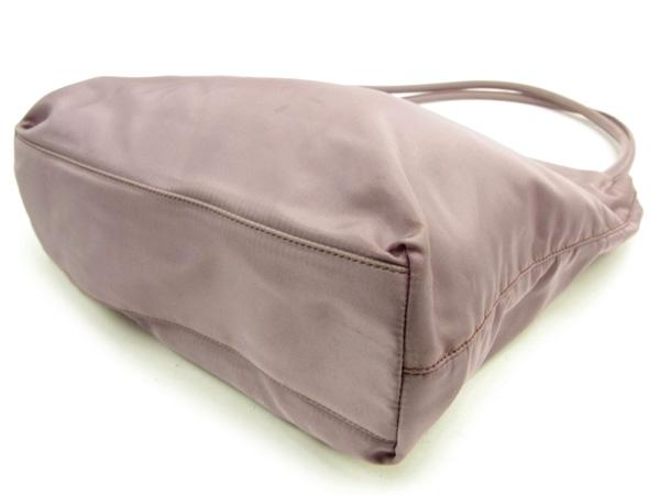 Prada PRADA shoulder bag tote bag Lady s logo plate lavender X silver nylon  canvas popularity Y6017 b9bda2d437a81