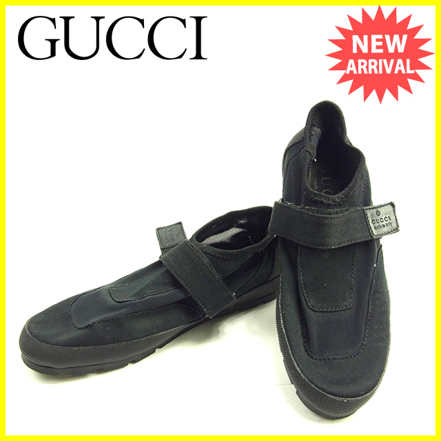 Gucci by GUCCI shoes water shoes men's water shoes black / grey canvas with  rare sale D1407