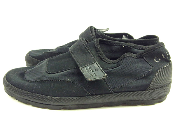 7e21c8c6eb79 Gucci by GUCCI shoes water shoes men s water shoes black   grey canvas with  rare sale D1407