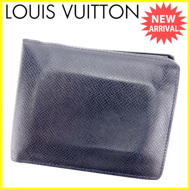【中古】 【送料無料】 ルイ ヴィトン 二つ折り財布 ボレアル(ダークネイビー) L1237s