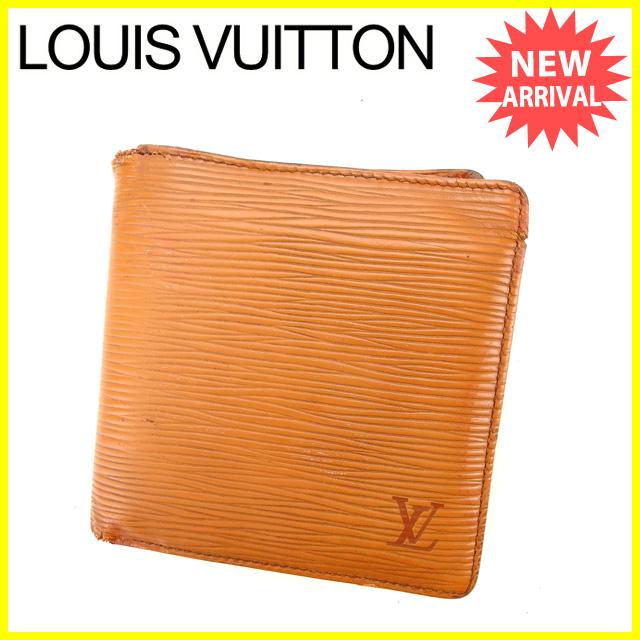 【中古】 【送料無料】 ルイヴィトン Louis Vuitton 二つ折り財布 男女兼用 ポルトビエカルトクレディモネ エピ ジパングゴールド(ライトブラウン) エピレザー (あす楽対応) K323