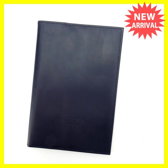 【中古】 【送料無料】 ショパール パスポートケース 手帳カバー メンズ可 ダークネイビー カーフレザー (あす楽対応)良品 L729