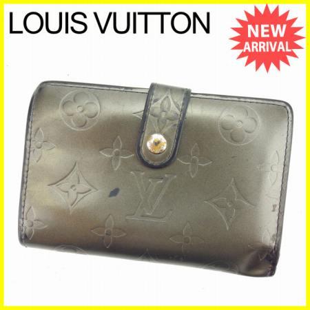 【中古】 【送料無料】 ルイヴィトン がま口財布 二つ折り財布 ノワール(ブラック) L1029s