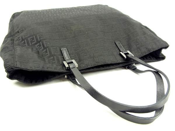 限定ファッションセール10 オフフェンディ トートバッグ ハンドバッグ ズッキーノ ブラック キャンバス×レFK3T1ulJc5