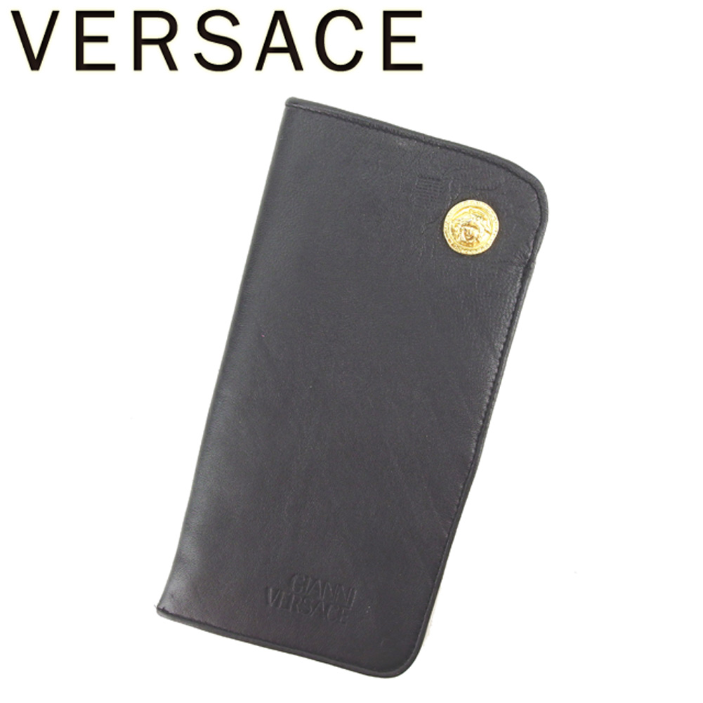 3a2e4371082cd Gianni Versace GIANNI VERSACE glasses case sunglasses case Lady s men  Medusa black gold popularity quality goods C3425