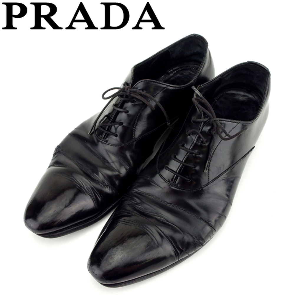 875b3cf2 Sale C3435 which there is Prada PRADA shoes business shoes men ♯ 6 half  race up straight tip black leather reason in