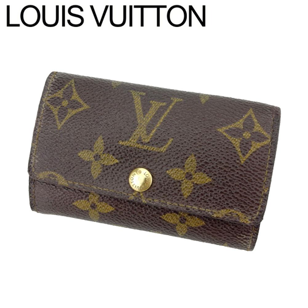 【中古】 ルイ ヴィトン Louis Vuitton キーケース 6連キーケース レディース メンズ ミュルティクレ6 モノグラム ブラウン ベージュ ゴールド モノグラムキャンバス 人気 セール C3445
