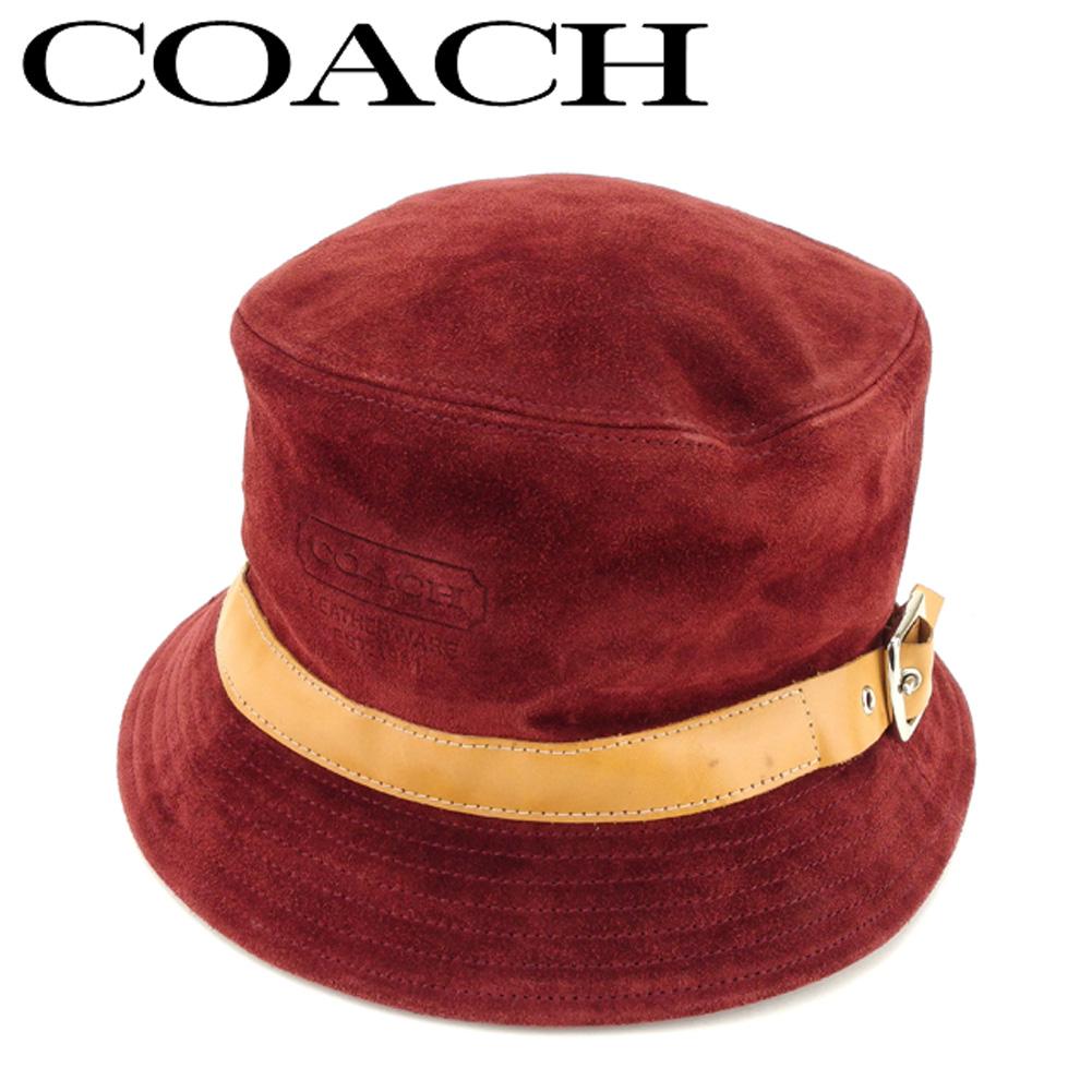 【中古】 コーチ 帽子 ハット ブラック スエードCOACH レディース プレゼント 贈り物 1点物 人気 良品 春 ブランド 迅速発送 オシャレ 大人 在庫処分 ファッション 【送料無料】 P766