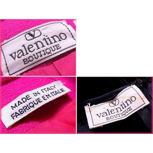 ヴァレンティノ VALENTINO セットアップ スーツ レディース ショートジャケット×切替えワンピース ショッキングピンク×ブラック F1273 AwiZPTklOXu