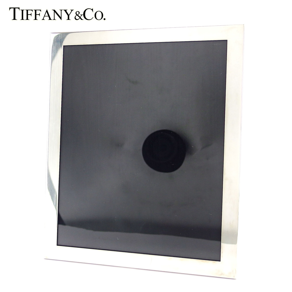 【中古】 ティファニー 写真立て インテリア スクエア 四角 シルバー ブラック Tiffany&Co. レディース プレゼント 贈り物 1点物 人気 良品 春 ブランド 迅速発送 オシャレ 大人 在庫処分 ファッション 【送料無料】 T16534
