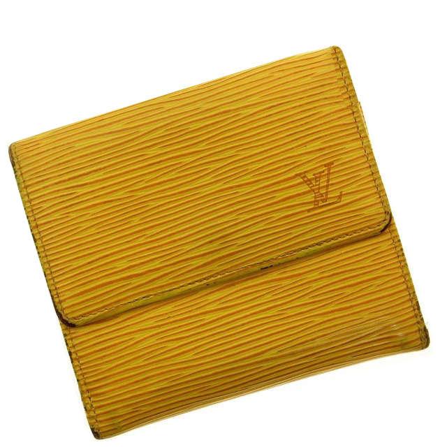 【中古】 【送料無料】 ルイヴィトン Louis Vuitton Wホック財布 エピ イエロー レザー A097s .