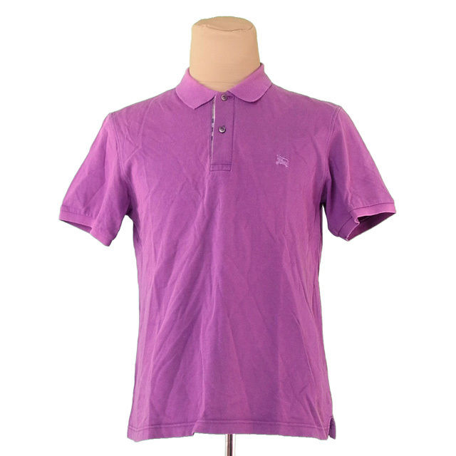 3983bb92404 100% of Burberry BURBERRY polo shirt short sleeves men ♯ large size hose  embroidery purple cotton popular A1382
