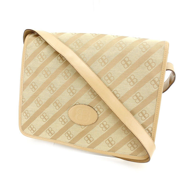 3995376e05d9 Balenciaga BALENCIAGA shoulder bags one shoulder Womens Beige canvas    leather with cheap sale A898