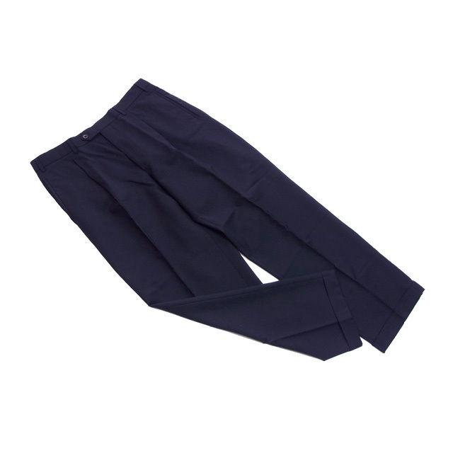 【中古】 【送料無料】 アルマーニ パンツ フルレングス メンズ スーツ用 サイズ50 センタープレス ダークネイビー Armani B920 .