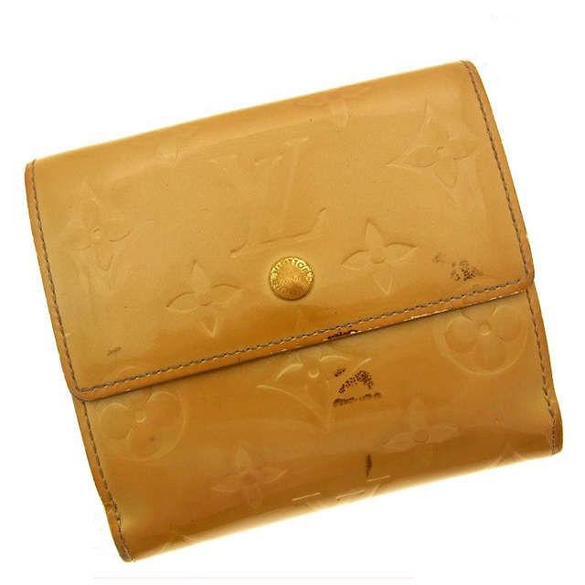 【中古】 【送料無料】 ルイヴィトン Wホック財布 レディース ヴェルニ ベージュ Louis Vuitton C019 .