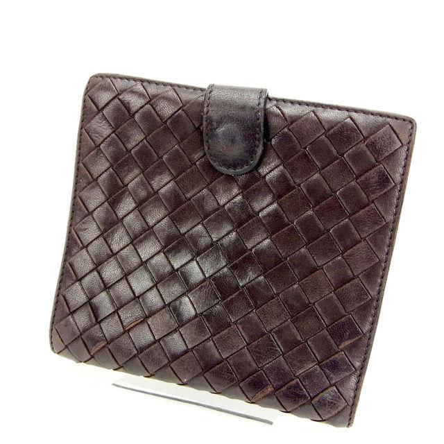 961a544f72 (Popular, HDD) (correspondence) Bottega Veneta /BOTTEGA VENETA and two  bi-fold wallet / zip / men's / intrecciato / brown leather C1123