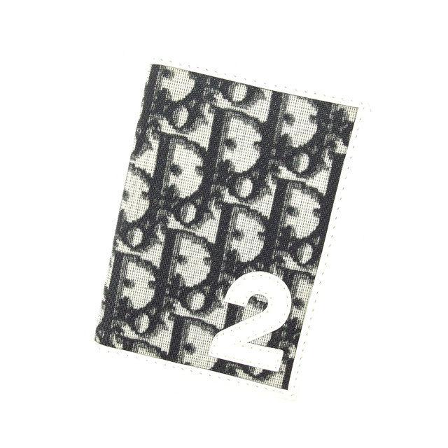 【中古】 【送料無料】 クリスチャン ディオール 定期入れ パスケース レディース トロッター ブラック×ホワイト Christian Dior C1809 .