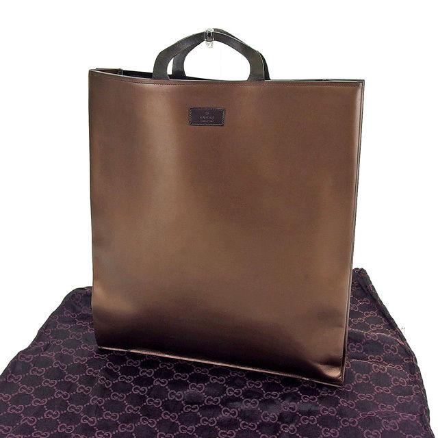 b616cdffe392 Gucci by GUCCI handbags men allowed bronze / brown leather popular sale  C2510 ...