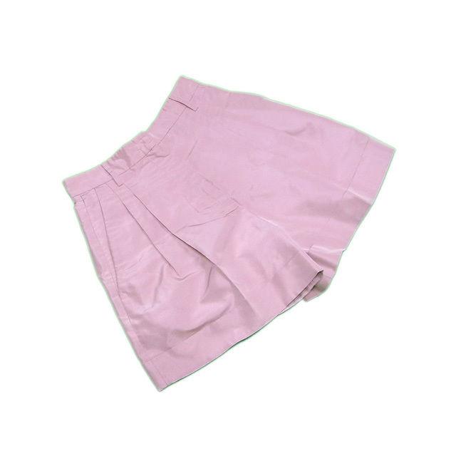 【中古】 プラダ キュロット ショート ♯38サイズ タック入り ピンク 絹100%(ポケット裏地)キュプラ100% PRADA C3053
