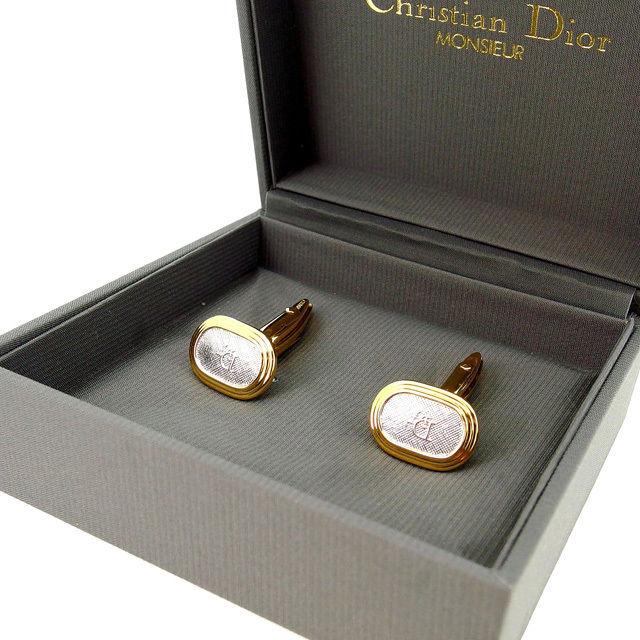 【中古】 クリスチャン ディオール カフス ゴールド Christian Dior レディース プレゼント 贈り物 1点物 人気 良品 春 ブランド 迅速発送 オシャレ 大人 在庫処分 ファッション 【送料無料】 D1032