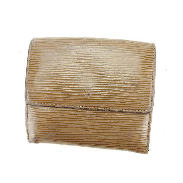 【中古】 【送料無料】 ルイヴィトン Louis Vuitton Wホック財布 三つ折り財布 ポルトモネビエカルトクレディ エピ ペッパー(グレー系) エピレザー 人気 D1569s .