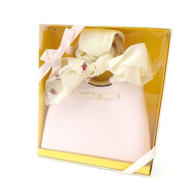 【中古】 【送料無料】 ニナリッチ NINA RICCI ハンドバッグ ミニハンドバッグ スカーフ付き ピンク キャンバス (あす楽対応)未使用品 人気 E626 .