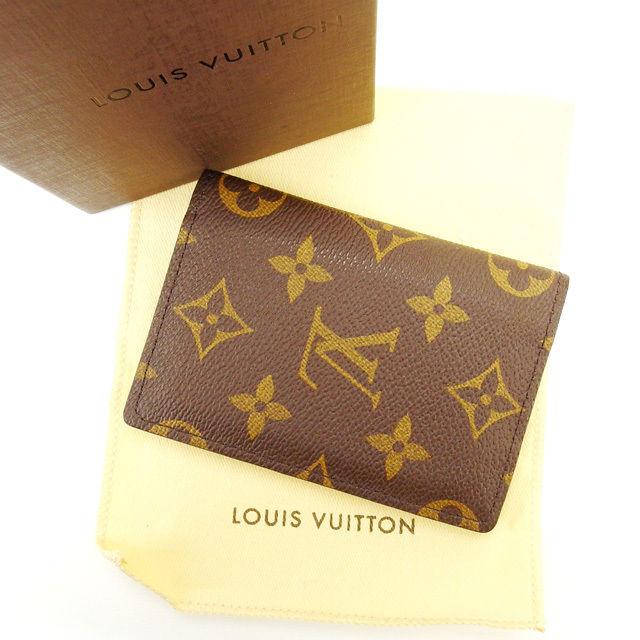 【中古】 【送料無料】 ルイヴィトン Louis Vuitton 名刺入れ カードケース メンズ可 オーガナイザー ドゥ ポッシュ モノグラム PVC×レザー (あす楽対応) 美品 人気 E670s