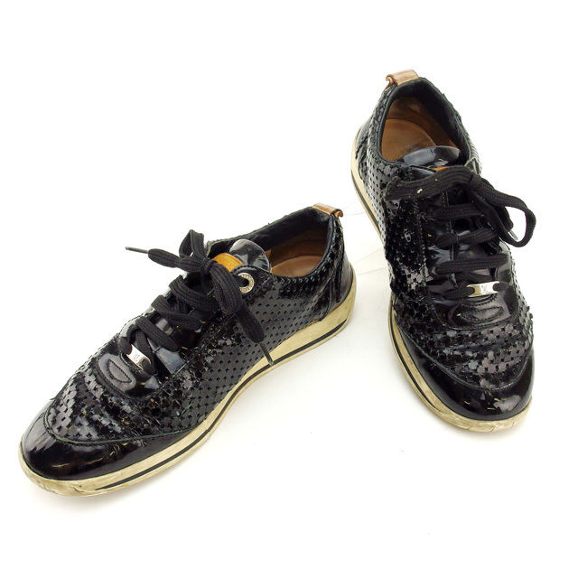 68487fbc2632 Louis Vuitton Louis Vuitton sneakers   37 men s black perforated with cheap  popular E778