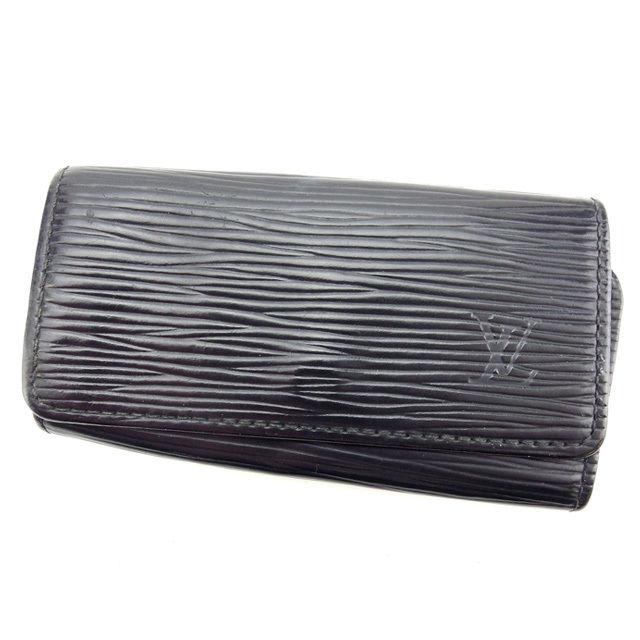 【中古】 【送料無料】 ルイヴィトン Louis Vuitton キーケース 4連キーケース 男女兼用 ミュルティクレ4 エピ M63822 ノワール(ブラック) エピレザー (あす楽対応) F1040