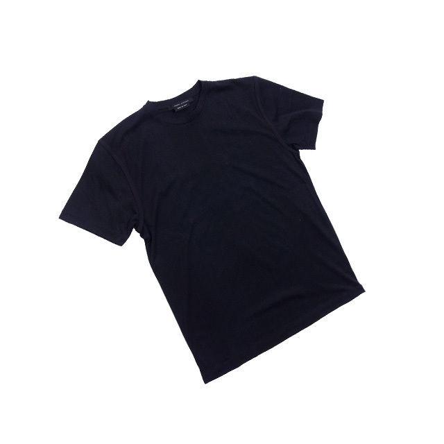 【中古】 マークジェイコブス Tシャツ カットソー Mサイズ 袖ライン入リ ブラック MARC JACOBS レディース プレゼント 贈り物 1点物 人気 良品 秋 迅速発送 オシャレ 大人 在庫処分 ファッション F1301