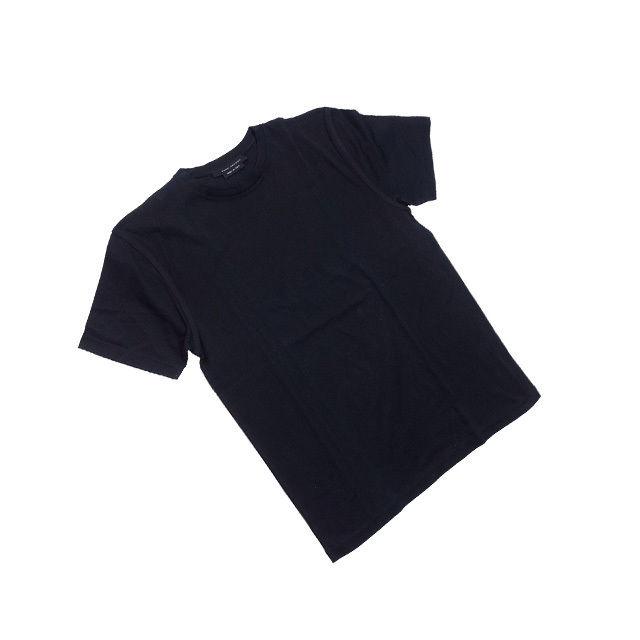 【中古】 【送料無料】 マークジェイコブス Tシャツ カットソー メンズ 袖ライン入り Sサイズ ブラック Francesco Biasia F1302