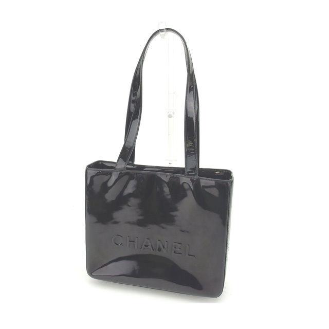 【中古】 【送料無料】 シャネル トートバッグ ショルダーバッグ レディース ロゴ ブラック Chanel G887 .