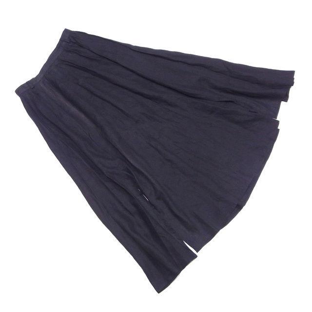 【中古】 マックスマーラ Max Mara スカート スリット入り ロング レディース ♯USA8サイズ ブラック系 リネンLINO 100% I461