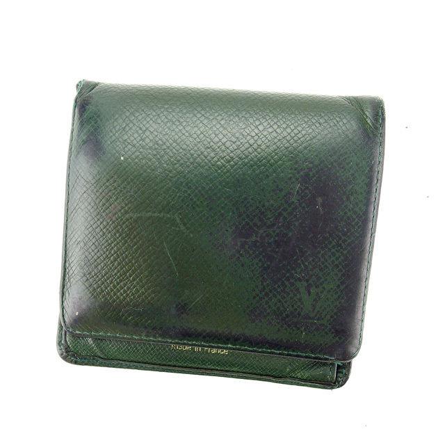 【中古】 【送料無料】 ルイヴィトン 二つ折り財布 エセピア(深緑) K367s .