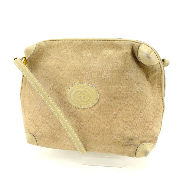 752331304c5451 It is shoulder Lady's GG pattern beige canvas X leather popularity sale  L1133 at Gucci GUCCI shoulder bag bias