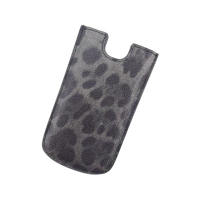 【中古】 【送料無料】 ドルチェ&ガッバーナ iPhoneケース 5/5s レディース レオパード ブラック×グレー Dolce & Gabbana L357 .