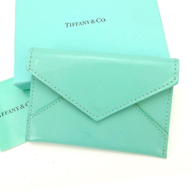【中古】 ティファニー カードケース カード 名刺入れ レターデザイン ティファニーブルー Tiffany&Co. レディース プレゼント 贈り物 1点物 人気 良品 秋 迅速発送 オシャレ 大人 在庫処分 ファッション L481
