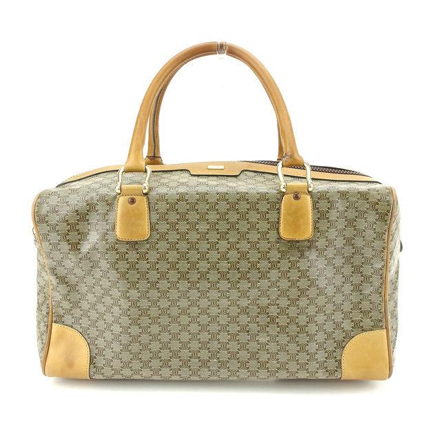 Celine CELINE Boston bag handbag men s possible macadam beige PVC X leather  (correspondence) popularity sale L605 07fef0eef2