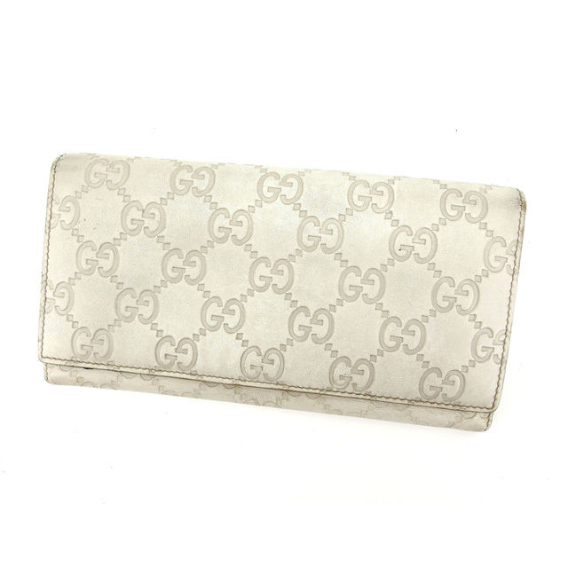 on sale a393d e7711 Possible Gucci sima 146229 light beige system leather (correspondence)  popularity L658 men's for two Gucci Gucci long wallet fasteners fold