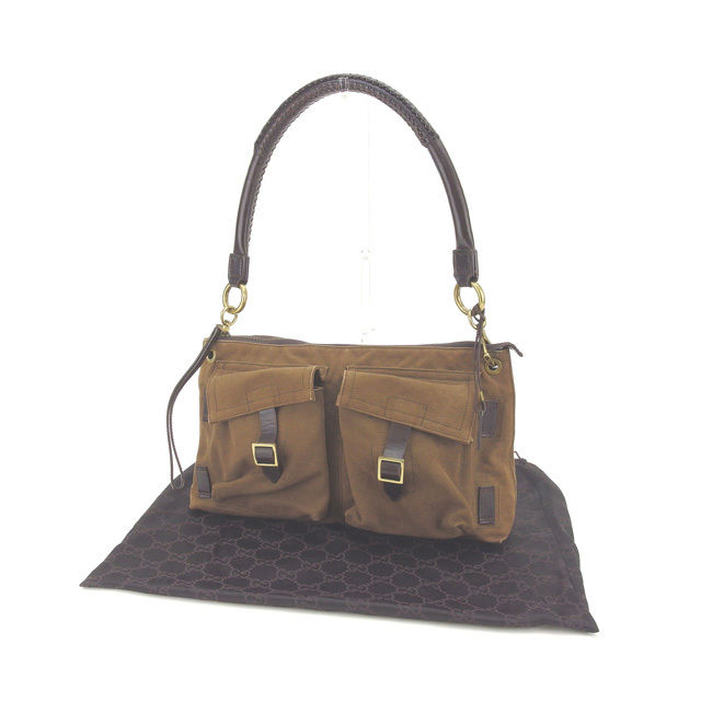 e5ec21c49027 Gucci GUCCI shoulder bag one shoulder man and woman combined use belt pocket  110231 brown X ...