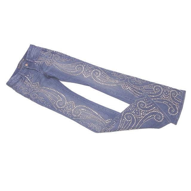 89c118670e07b6 2% of Michael Kors MICHAEL KORS jeans bootcut underwear Lady's ♯ 00 size  denim gold studs wash blue X gold cotton cotton 98% spandex beautiful  article ...
