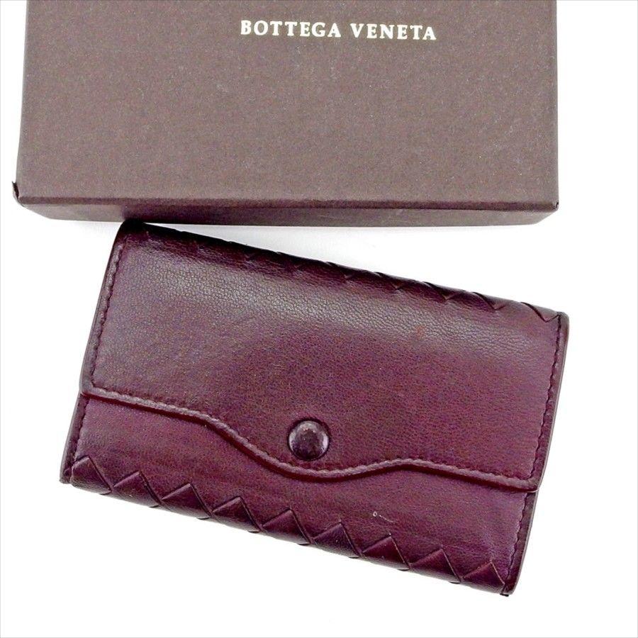 【中古】 【送料無料】 ボッテガ ヴェネタ BOTTEGA VENETA キーケース 6連キーケース レディース メンズ 可 イントレチャート ブラウン系 レザー 人気 L2016 .