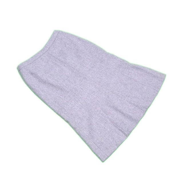 【中古】 ヴァレンティノ スカート ロング ♯38サイズ マーメイド グレー VALENTINO L2143