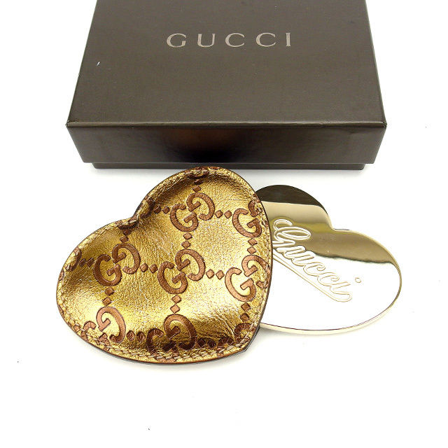 【中古】 【送料無料】 グッチ ミラー レディース グッチシマ ゴールド Gucci M1221 .