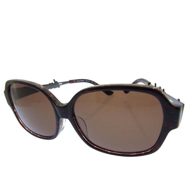 c75797097b1c Vivien waist Wood Vivienne Westwood sunglasses logo VW-7737 brown stainless  steel X plastic ...