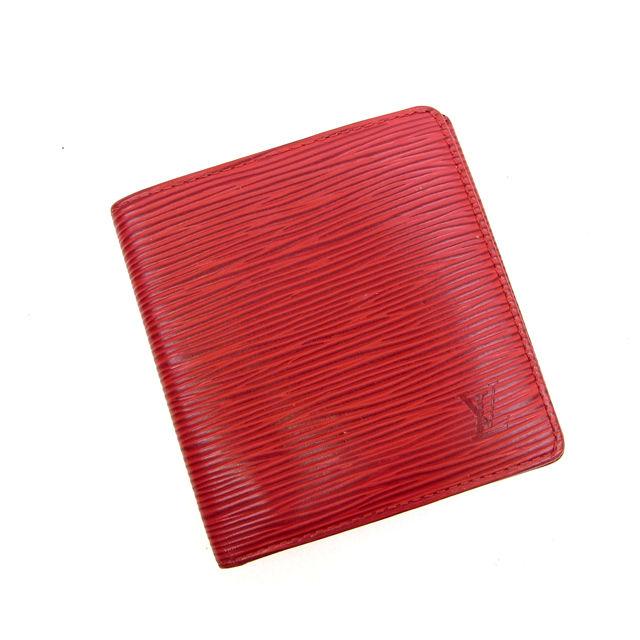 【中古】 【送料無料】 ルイヴィトン Louis Vuitton 二つ折り札入れポルト ビエ 6カルトクレディ エピ レッド PVC×レザー N035s .