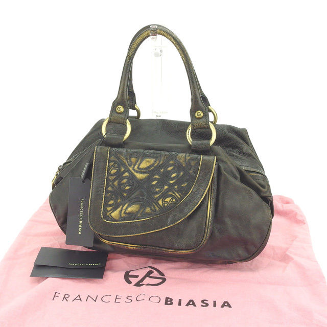 BrandValue: Francesco biAsia FRANCESCO BIASIA shoulder bag ◇ gold ... | 640x640